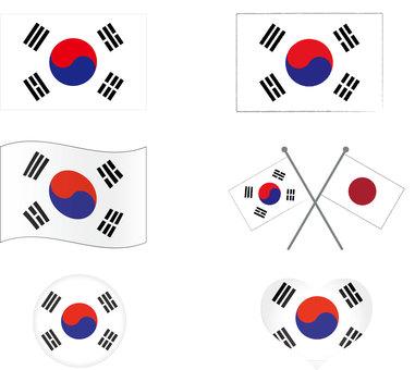 Korean flag set