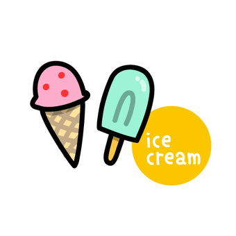 冰淇凌象例證