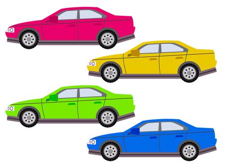 Car horizontal 4 colors