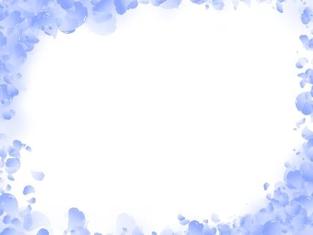 桜フレーム 青