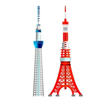 Sky Tree and Tokyo Tower