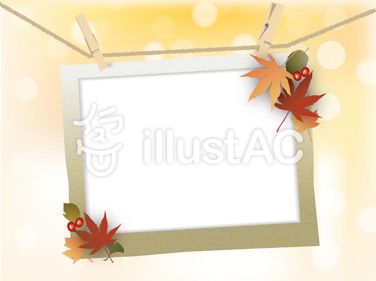 秋の背景のイラスト