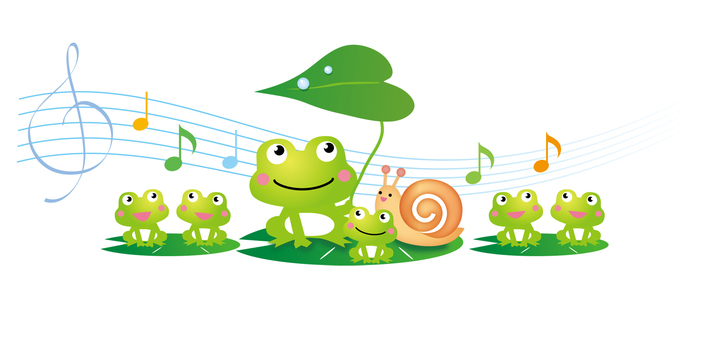 The image of the frog chorus