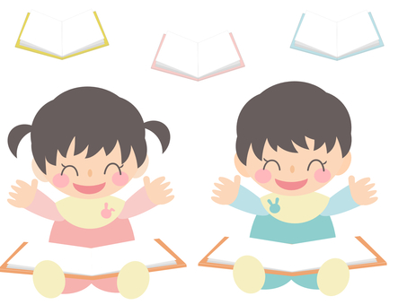 Children who are happy to read picture books