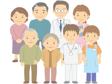 Medium- and advanced-age generation, medical staff and caregiver