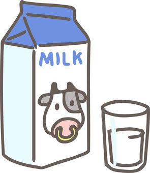 牛奶和杯子