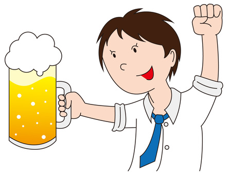 A toast with beer 4