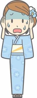 Yukata female a-big failure - whole body