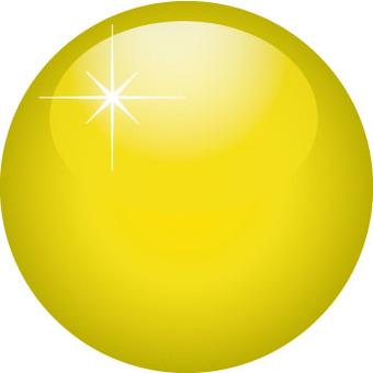 Plump 3D Button Yellow