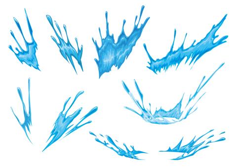 Water effect set material