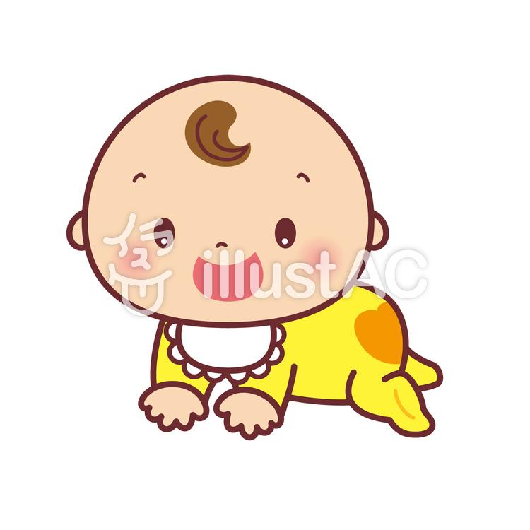 赤ちゃん はいはいイラスト No 1193773無料イラストならイラストac
