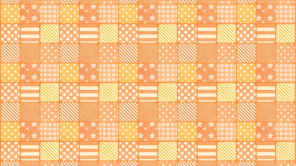 Patchwork Check Orange Wallpaper