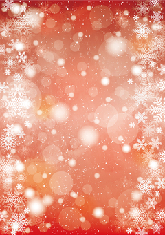 Snow and snowflake background vertical red