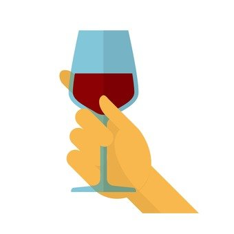 Hand holding a glass