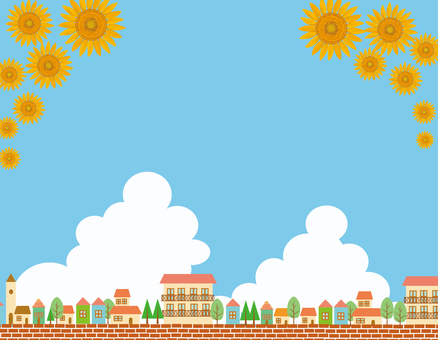 Summer cityscape