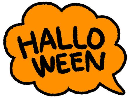 Speech bubble halloween orange