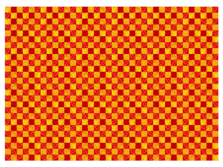 Hand-drawn wind red checkered checkered grid