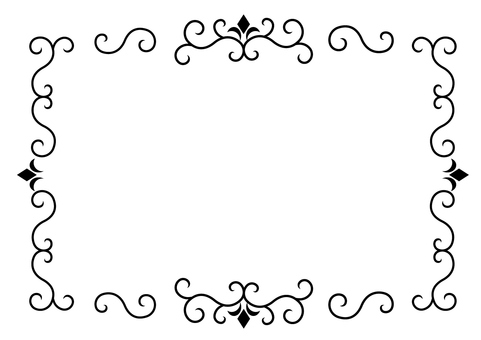 Antique frame 1 (black)