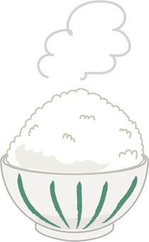 Tea bowl rice shimasima