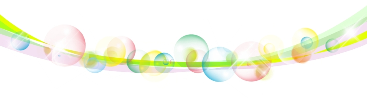 Colorful bubble line