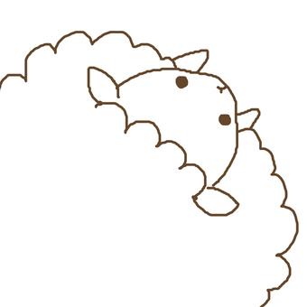 Naname sheep