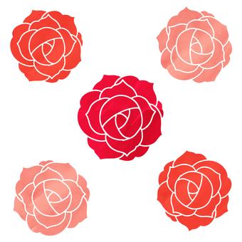 薔薇 Watercolor style icon
