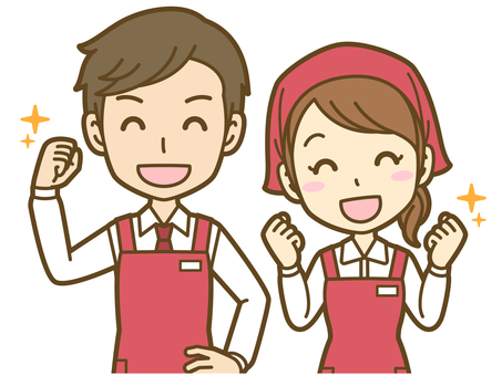 Male and female (sales clerk): B _ 合 01