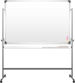 White board marker set with legs