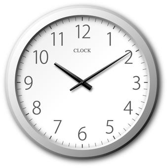 Wall clock (silver)