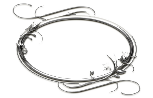 Silver corsage frame