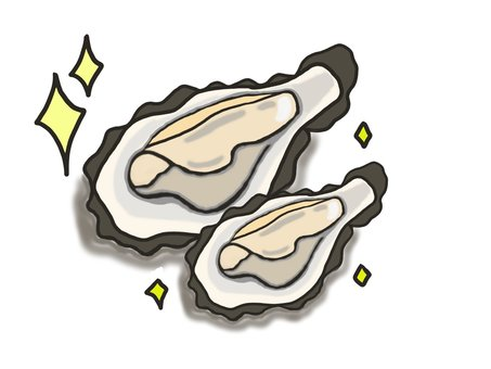Two raw oysters ③
