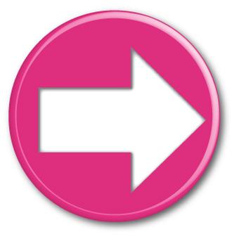 Three-dimensional arrow (right) pink