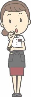 Waitress a - Fumifuku - whole body