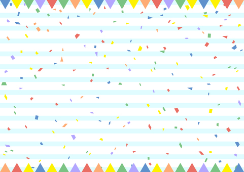 Flag frame confetti stripe background