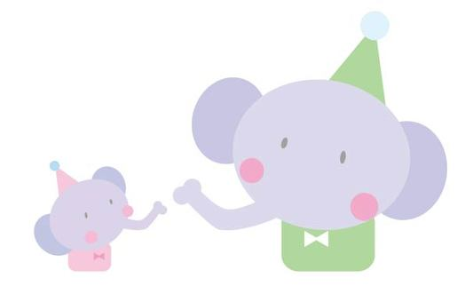 Elephant's parent and child