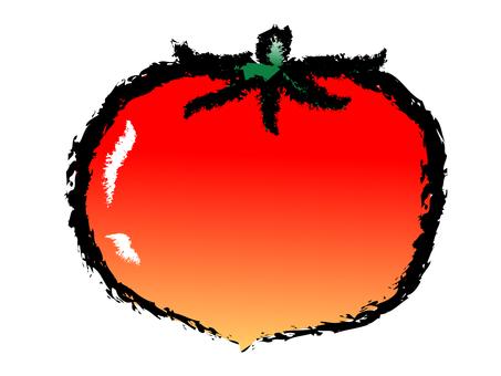 Japanese style summer vegetable tomato