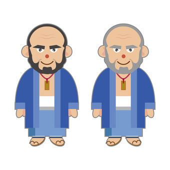 Men in Japanese clothes