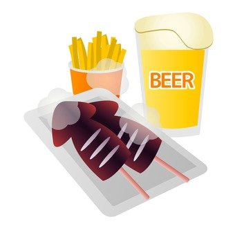 Beer and hot snack