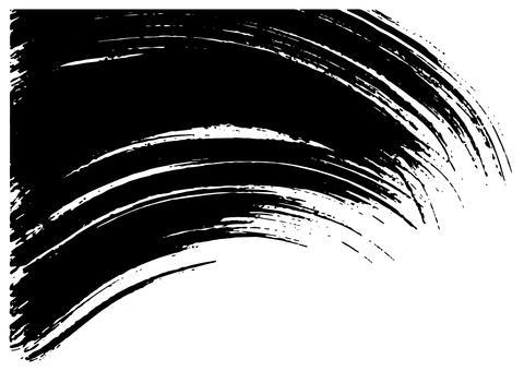 Calligraphic handwriting brush illustration