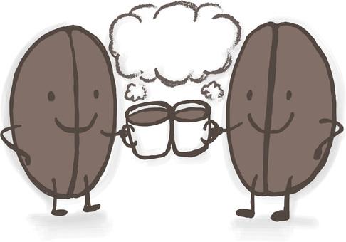 Coffee beans kun toast