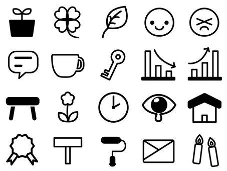 Monochrome icon (life)