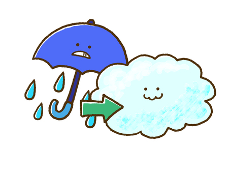 (Weather) rain then overcast