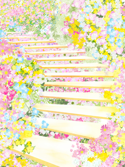 Flower staircase