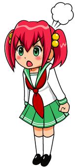 Angry sailor girl