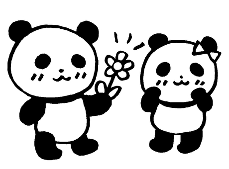Have a flower panda 1