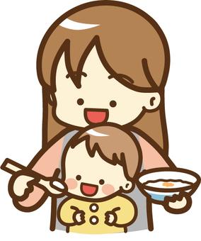 嬰兒吃嬰兒食品