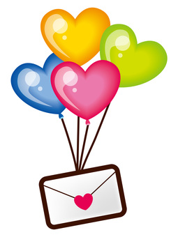 Mail with balloons