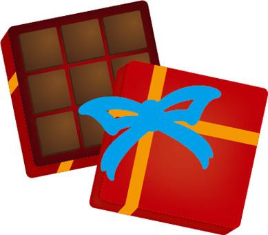 Stone-covered chocolate