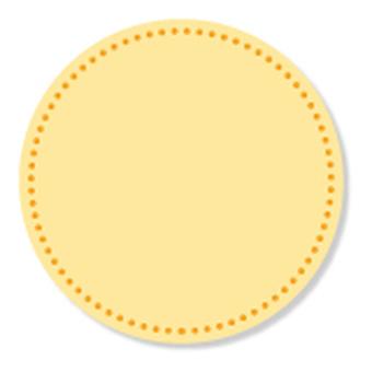 Seam - circle pattern - orange