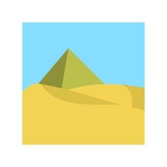 Desert and pyramid